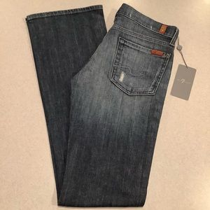 7 For All Mankind Jeans 27X34.5 Bootcut Distressed